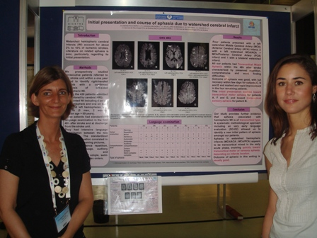 Aphasia and watershed cerebral infarction from French team