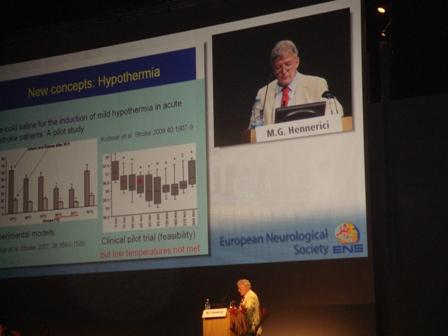 Prof. Henereci talking about the new stroke trials